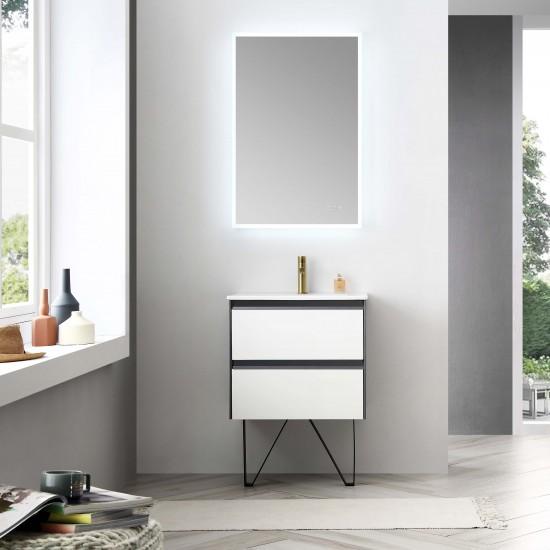 Blossom Berlin – 24 Inch Vanity – Glossy White & Glossy Grey