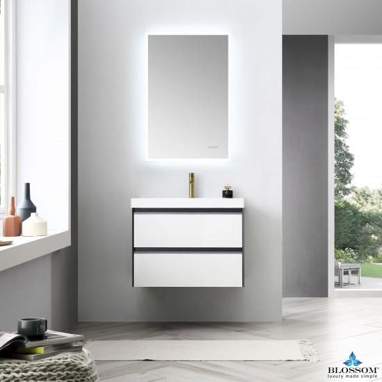 Blossom Berlin – 30 Inch Vanity – Glossy White & Glossy Grey