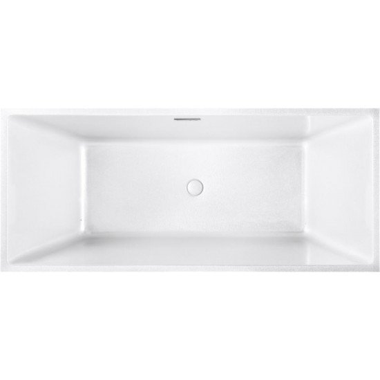 "FREESTANDING TUB ""BORDEAUX"" 67"" x 30"" x 22.6"" AFT-5781-WH"