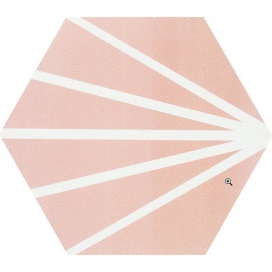 """ARIES ROSE WITH BLANCO LINE 8"""" HEX"""