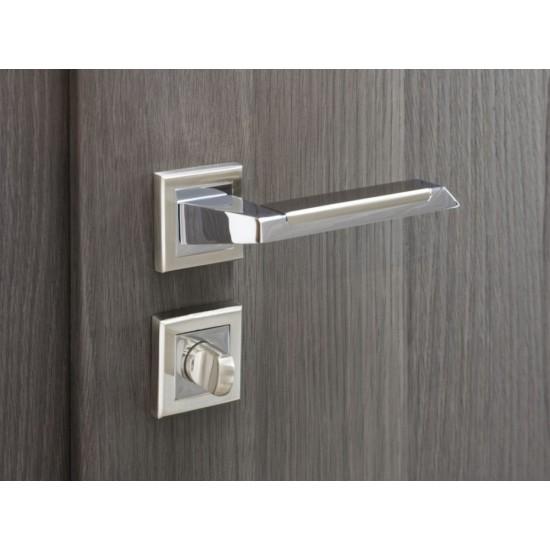 Nova Aqualia Interior Door Lever in Two Tone Polished Chrome