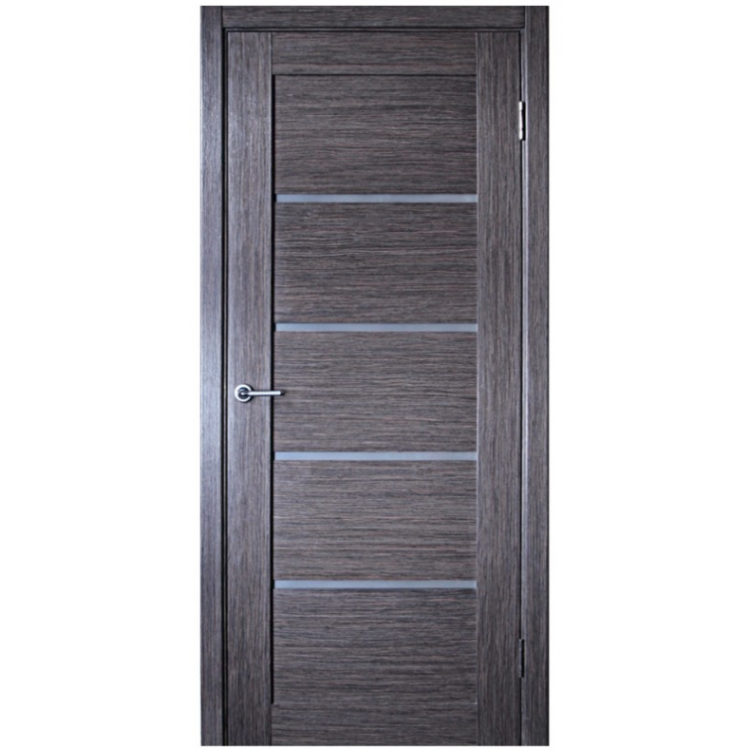 Ville Venice Grey Oak Wood Veneer Modern Interior Door With Glass