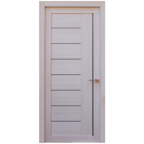 Ville Miami White Wood Veneer Modern Interior Door With Frosted Glass