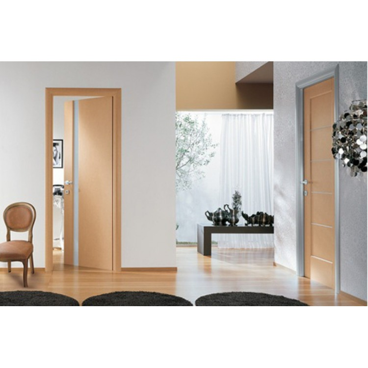 Ville Dominika Bleached Oak Wood Veneer Modern Interior Door with Bronze  Glass