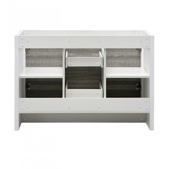 "Fresca FCB8148HA-D Allier Rio 48"" Ash Gray Double Sink Modern Bathroom Cabinet"