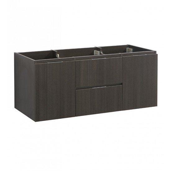 "Fresca FCB8348GO-D Valencia 48"" Gray Oak Wall Hung Double Sink Modern Bathroom Cabinet"