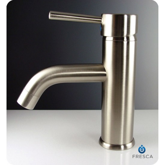 Fresca FFT1041BN Sillaro Single Hole Mount Bathroom Faucet in Brushed Nickel