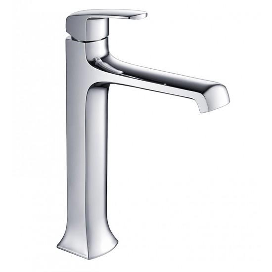 Fresca FFT3502CH Verdura Single Hole Vessel Mount Bathroom Faucet in Chrome