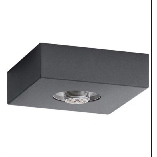 "Elan 83979 Mates 1 Light 7"" Flushmount Base Hardware in Charcoal Finish"