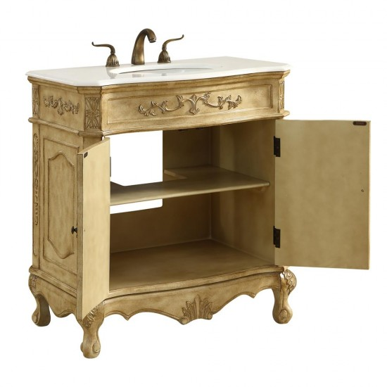 Elegant Decor VF10132AB Danville 32 in. Single Bathroom Vanity set in Antique Beige