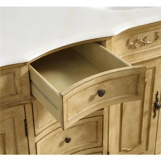 Elegant Decor VF10148AB Danville 48 in. Single Bathroom Vanity set in Antique Beige
