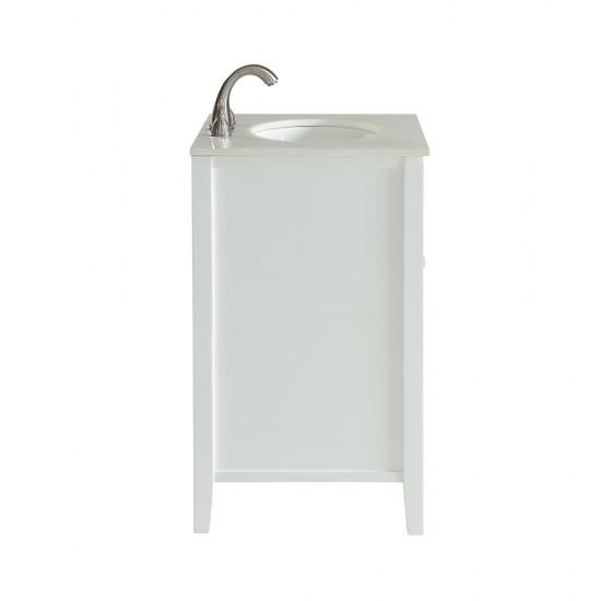 Elegant Decor VF10424WH Cape Cod 24 in. Single Bathroom Vanity set in White