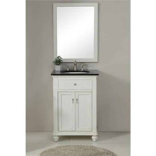 Elegant Decor VF12324AW Otto 24 in. Single Bathroom Vanity set in Antique White