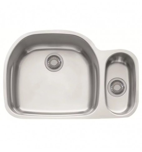 Franke Prx160 Prestige 31 1 8 Double Basin Undermount Stainless Steel Kitchen Sink With Ledge