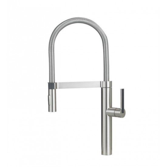 Blanco 441332 Culina Semi Professional 2.2 GPM Single Handle Kitchen Faucet with Pulldown Spray in Satin Nickel