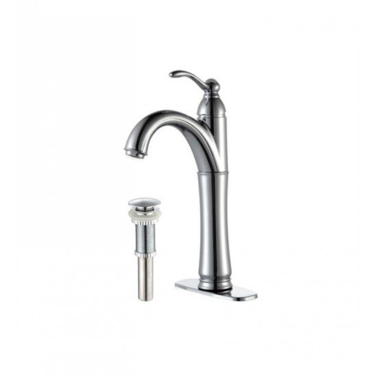 "Kraus FVS-1005 Riviera 5 1/2"" 1.5 GPM Single Hole Vessel Bathroom Sink Faucet"