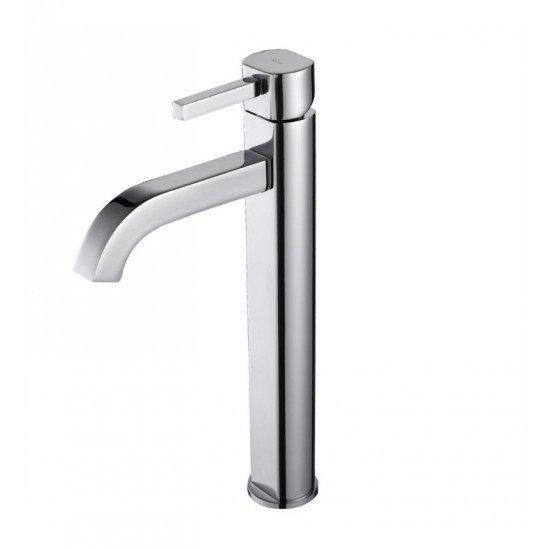 "Kraus FVS-1007 Ramus 3 5/8"" 1.5 GPM Single Hole Vessel Bathroom Sink Faucet"