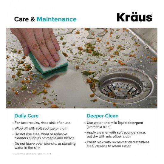 "Kraus KHT301-25 Standart Pro 25"" Single Bowl Drop-In Stainless Steel Square/Rectangular Kitchen Sink"